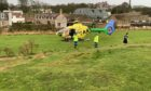 The SCAA air ambulance at East Sands.