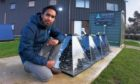 Faisal Ghani is pictured with the SolarisKit flat-packable solar thermal collectors has been on the accelerator programme.
