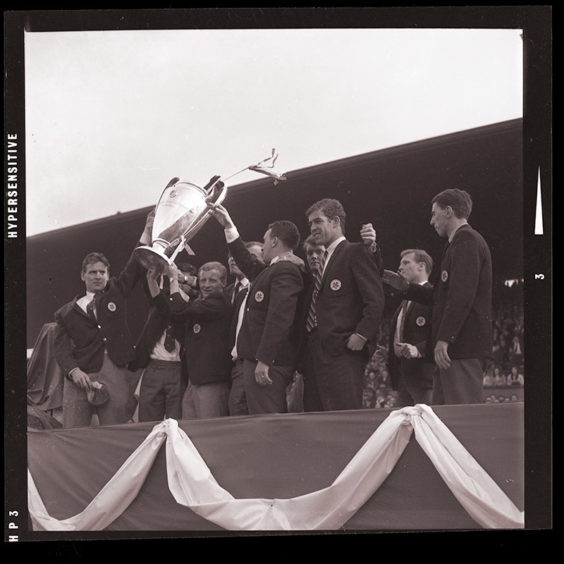 Celtic with the European Cup, 1967.
