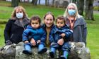 Seona Galbally with twins Ziggy and Zen and  Alison Kettles & Ashleen Lamb from Home-Start