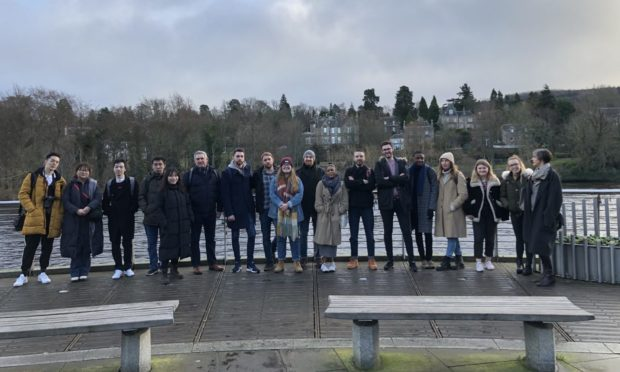Students at the University of Dundee were praised for their Perth 2040 report.