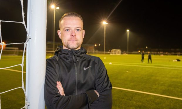 Broughty Athletic manager and former Dundee United hopeful Jamie McCunnie.
