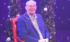 Provost Jim Leishman helping to promote the Alhambra Theatre's Christmas production.