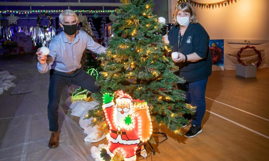 Staff at Kingspark School in Dundee were determined to ensure pupils didn't miss out on having festive fun.