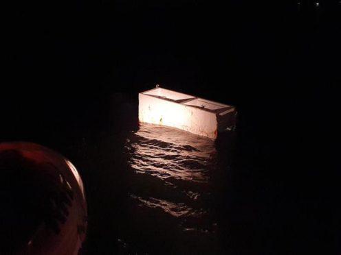 Discarded fridge freezer sparks major Forth rescue operation.