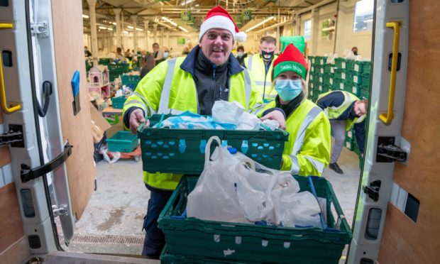 Food and children's toys were delivered to families across Kirkcaldy.