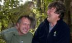 Siroccco trying to mate with Mark Carwardine while filming BBC TV series Last Chance to See with Stephen Fry