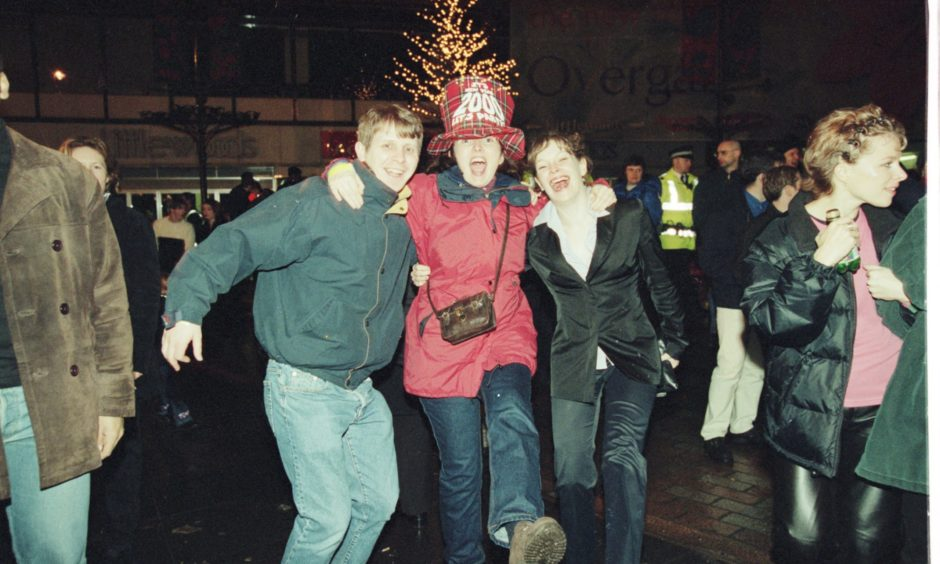 These folk partied hard at the Dundee millennium party in 2000.