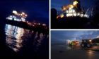 The Kinghorn RNLI lifeboat was alerted to the emergency aboard the Christian Essberger vessel after HM Coastguard received a call for assistance at around 4.22pm on Monday.