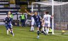 Frankie Musonda celebrates scoring for Raith