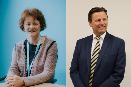 Fife College's new joint campus takes major step forward. Picture shows; Chief Operating Officer at Fife College, Sue Reekie, and David Logue, Partner at Gardiner & Theobald.