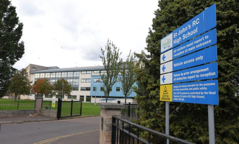 Covid-19 outbreak sees senior pupils at St John's told to stay at home.