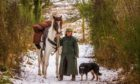 Karen Inkster, her pony Connie and collie dog Pip.