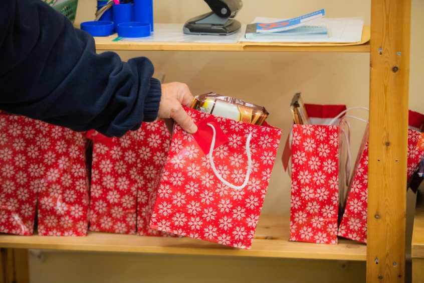 Jingle bags all packed and ready to go.