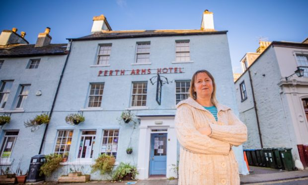 Karen Alcorn, owner of the Perth Arms, which is closing due to Tier 3 restrictions.