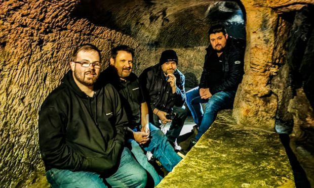 Scottish Paranormal team: from Left to right: Kyle Stewart, Greg Stewart, Ryan O'Neill and Ally Reid.