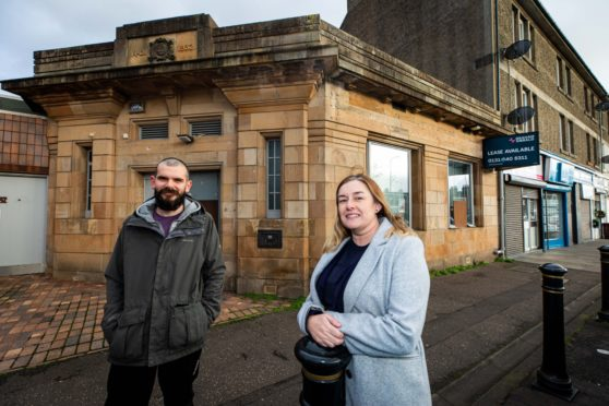 Ethan Daish and Karen Dorrat at the former Clydesdale Bank building in Rosyth which they have secured thanks to Scottish Land Funding