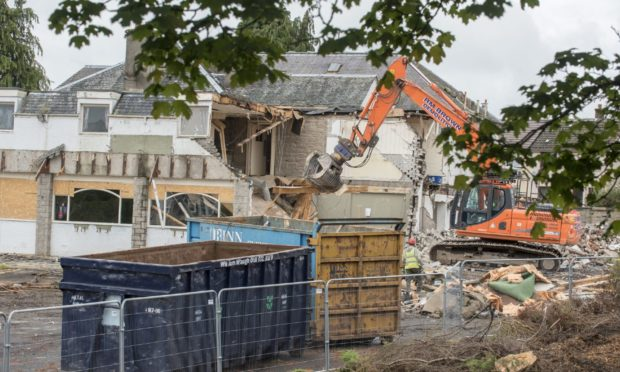 The Wheel Inn was flattened last year to make way for the retirement complex.