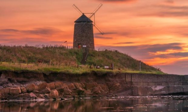 The windmill at St Monans was linked to the salt industry and is a striking reminder of the area's past.