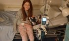 Summer-Rose Charnley in hospital.