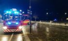 Emergency services at River Tay in Perth on T