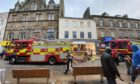 Part of Kirkcaldy High Street has been closed off following a fire in one of the adjacent properties.