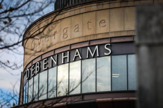 Debenhams at Overgate Shopping Centre, Dundee.