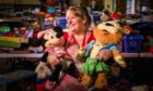 Organiser Lucille Conway at the toy recycle, which was started by Freya Skene.