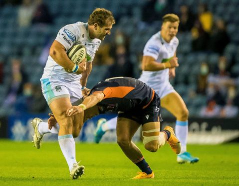 Glasgow captain Fraser Brown is being assessed for a neck injury.