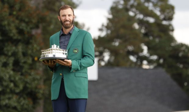Dustin Johnson smashed the scoring record at Augusta in November.