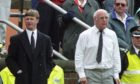 Paul Hegarty and Jim McLean on touchline in 1993 as Hegarty's Aberdeen took on Dundee United.