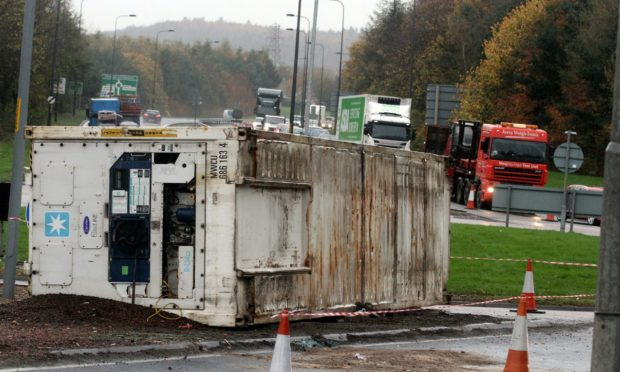 A past accident on the Swallow Roundabout