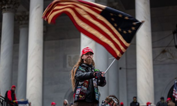 On January 6, 2021, pro-Trump supporters and far-right forces flooded Washington DC to protest Trump's election loss.