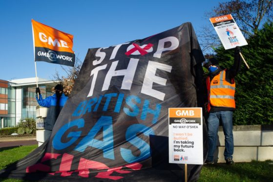 Gas engineers staged industrial action at Centrica's headquarters in Windsor last week.