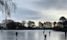 Skaters took to the pond at Beveridge Park in Kirkcaldy.
