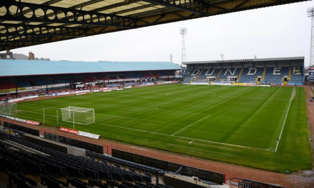 Dens Park, the home of Dundee Football Club.