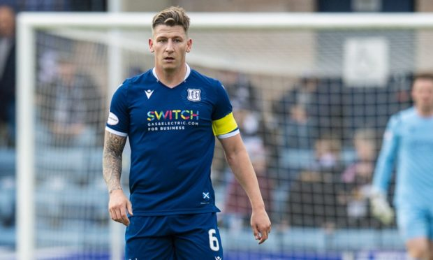 Josh Meekings in action for Dundee.
