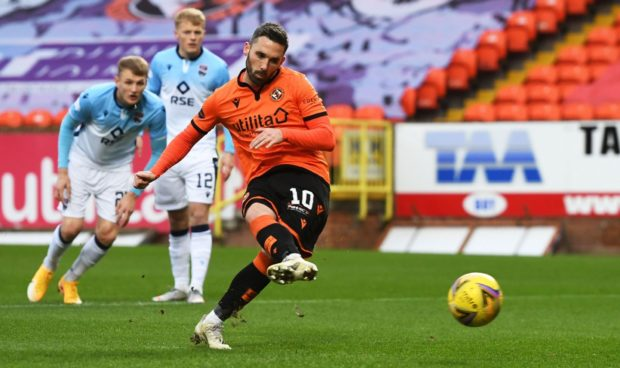 Dundee United striker Nicky Clark is a target for rivals Dundee.