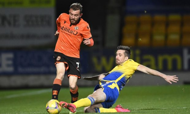 Dundee United winger Paul McMullan in action against St Johnstone.