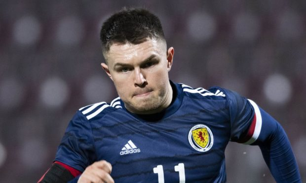 EDINBURGH, SCOTLAND - NOVEMBER 12: Glenn Middleton during a UEFA Under-21 European Championship match between Scotland and Croatia at Tynecastle Park on November 12, 2020, in Edinburgh, Scotland.(Photo by Craig Foy / SNS Group)