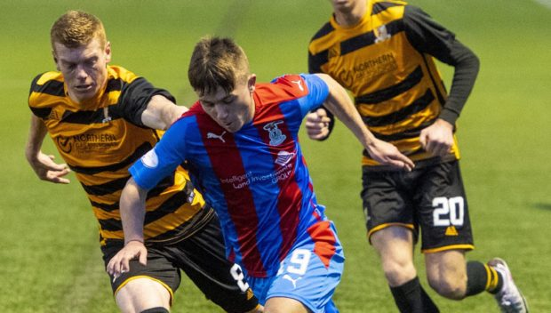 Kai Kennedy in action for Inverness.