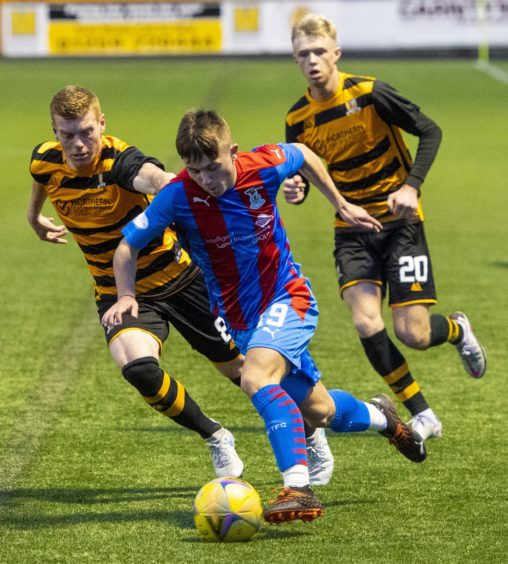 Kai Kennedy against Alloa during Inverness loan spell.