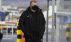 Celtic manager Neil Lennon is pictured at Glasgow Airport as Celtic leave from Glasgow Airport for their midseason training camp in Dubai