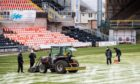 DUNDEE, SCOTLAND - JANUARY 09: The Scottish Premiership match between Dundee United and St Johnstone at Tannadice is called of due to a frozen pitch on January 09, 2021, in Dundee, Scotland. (Photo by Ross Parker / SNS Group)