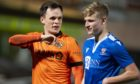 Ali McCann with Lawrence Shankland after St Johnstone's latest draw against Dundee United.