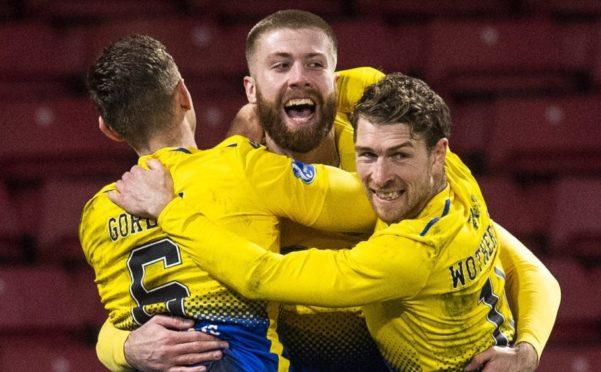 Shaun Rooney celebrates his goal.