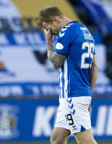 Kilmarnock ace Chris Burke pictured at full-time.