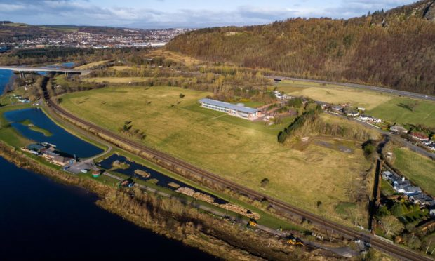 The West Kinfauns site, where a hotel, museum and park and ride have been proposed.