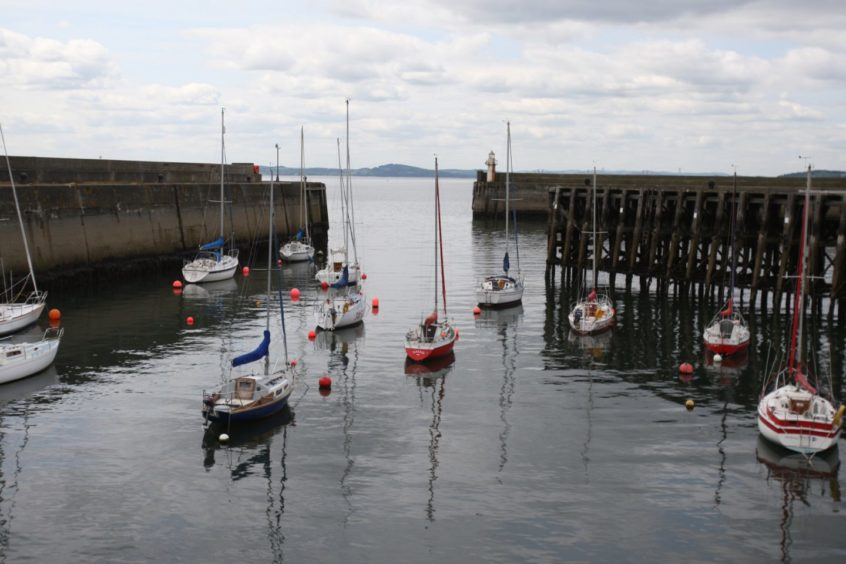 General view of Burntisland Harbour.