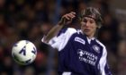 Claudio Caniggia in action for Dundee.